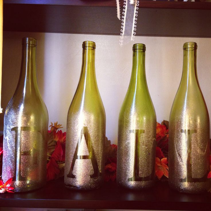 Fall wine bottle diy