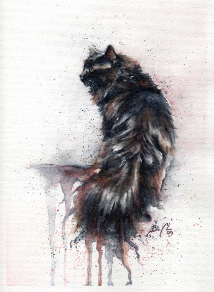 *Watercolor - Cat by Braden Ducan                                                                                                                                                                                 More