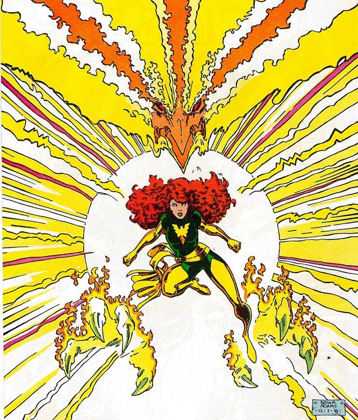 Classic X-Men 9 front piece art by Art Adams (1987).