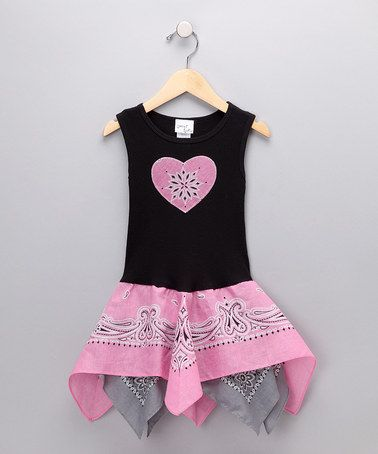 Bandana and tee shirt make a cute and super simple dress.