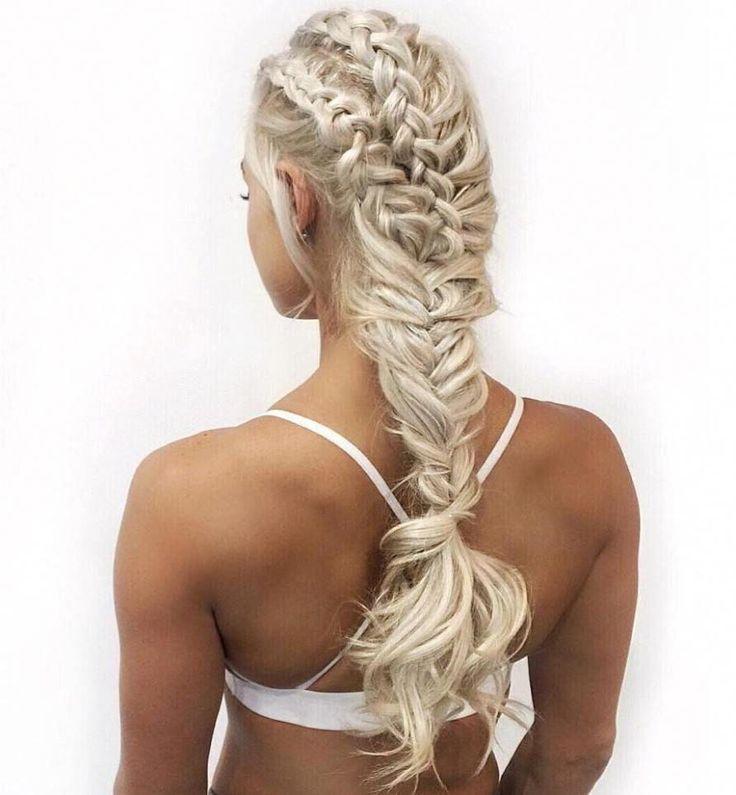 braid hairstyles bridesmaid Beautiful #howtobraidh…