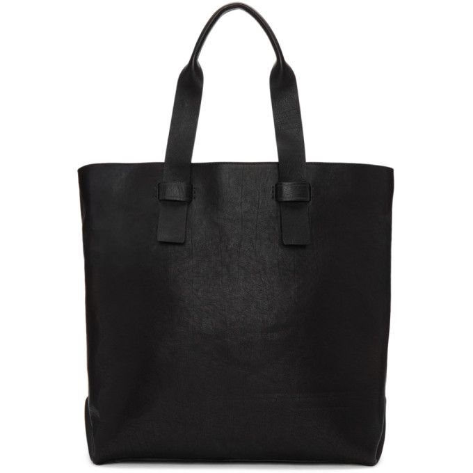 OFFICINE CREATIVE Black Arman Ignis Tote. #officinecreative #bags #shoulder bags #hand bags #leather #tote #
