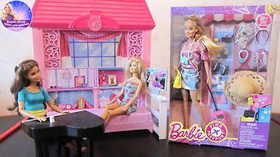 Игрушки для девочек: Новая Барби розовый паспорт Barbie Pink Passport V...