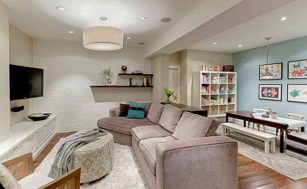 low basement ceiling remodel photos   ... in the basement 5 Things to Consider before Finishing Your Basement