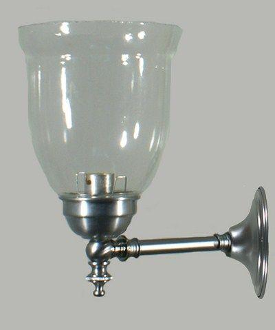 Satin Chrome Rockford 1 Light Wall Light with Boulevard Glass