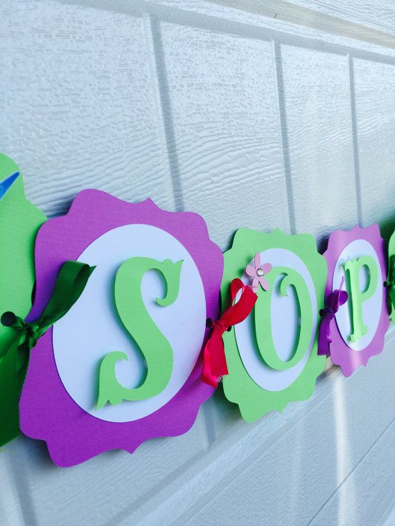 Tinker Bell Name Banner Tinkerbell Pixie name banner