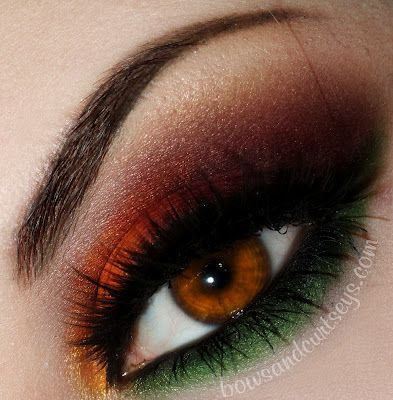 Fall colors eye makeup