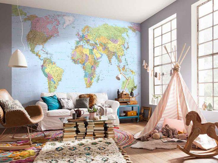 Fototapet harta lumii Komar - care-i următoarea ta destinaţie?
