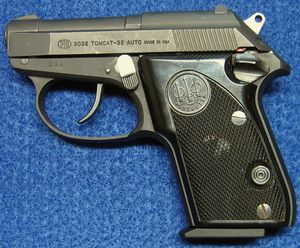 Left side of Beretta 3032 Tomcat 32 ACP Semi-Auto Pistol. - Photo © Russ Chastain