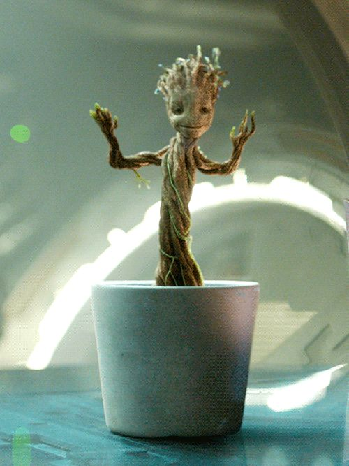 He'd be the best dance partner. | Community Post: 18 Reasons Groot Would Be The Perfect Boyfriend