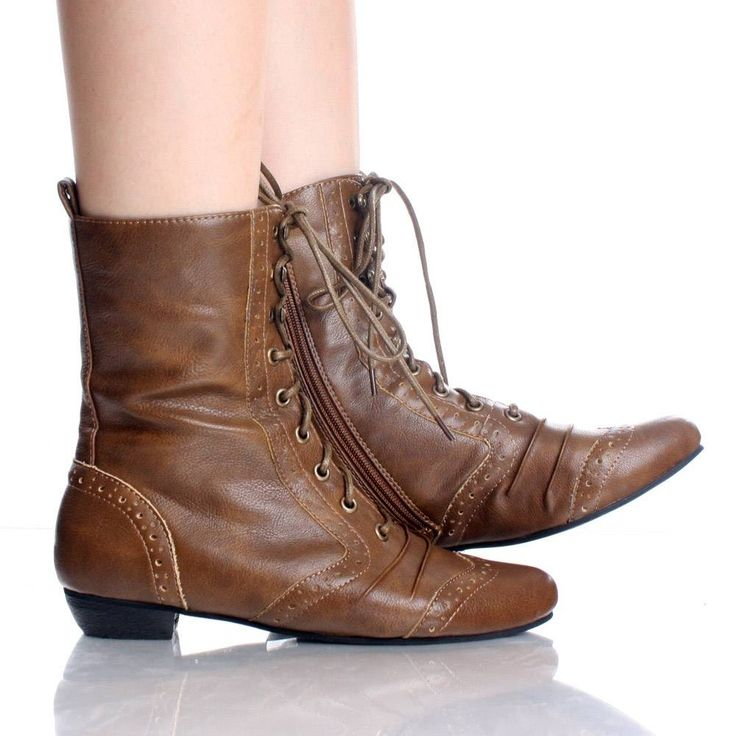 Womens Lace Up Ankle Boots - Cr Boot