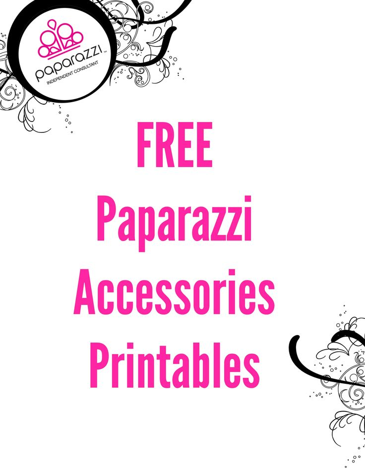 free paparazzi accessories printables
