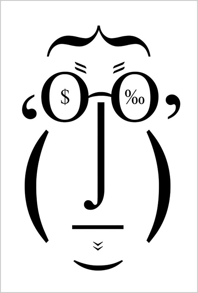 1 | A Face Drawn Using Only Letters From Comic Sans | Co.Design: business + innovation + design#1