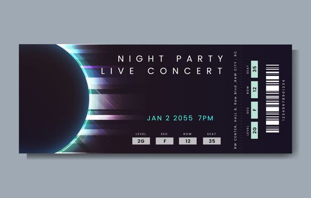 Download Live Concert Ticket For Free Concert Poster Design Concert Tickets Ticket Design