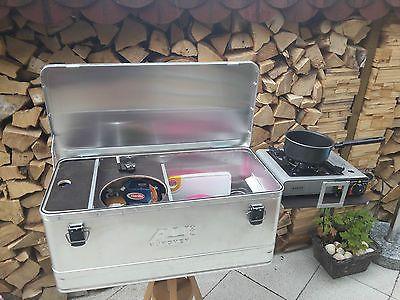 Mobile Camping Küchenbox, Caddy Tramper u.a., Outdoorküche, Zeltküche , Alubox