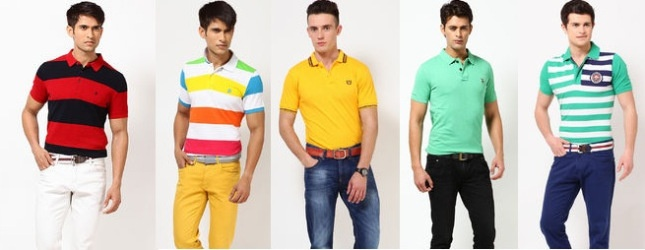 Buy Men's Polo T Shirts Online in India. Huge range of Branded Polo T Shirts for men, cool Tees