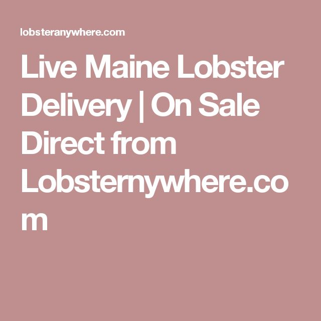 Live Maine Lobster Delivery | On Sale Direct from Lobsternywhere.com