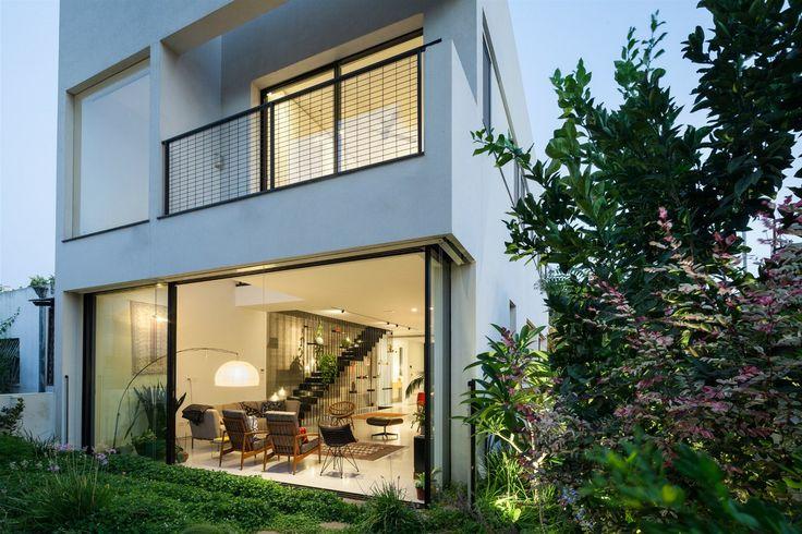 Balkon v patře patří k ložnici rodičů.