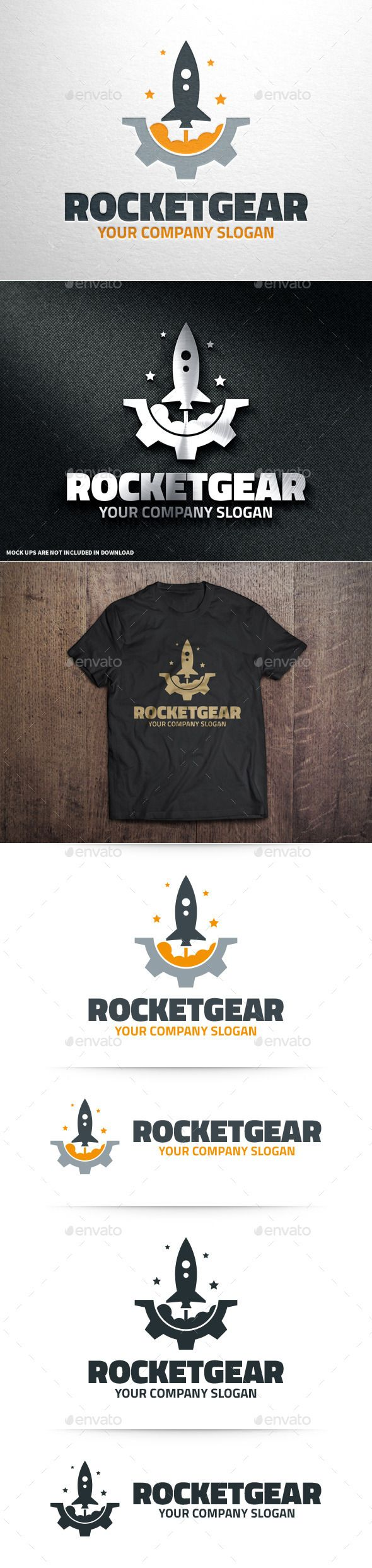 Rocket Gear Logo Template #vector #rocket #logo #template #ai #eps #psd #png #template #download #premium #buy #sale #company #logodesign #inspiration #space #launch #creative #envato #graphicriver