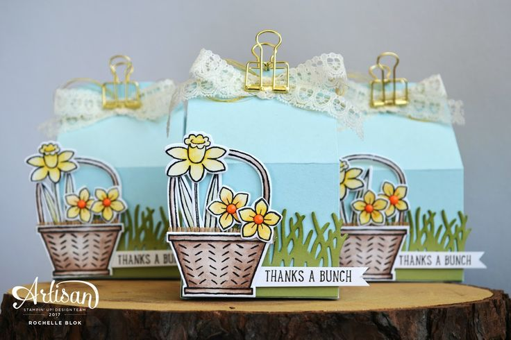 The Stamping Blok | Stampin' Up! Artisan Blog Hop | Basket Bunch Gift Box | Rochelle Blok
