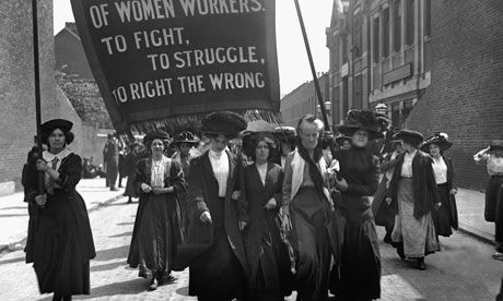 March of the women … a suffragette protest in London, 1911. Photograph: © Hulton-Deutsch Collection/CorbisSuffragette Marching, American History, Dresses Parties, Women Workers, Feminismstrong Womenadmir, Women Suffragette, Business Logo, Feminist Politics, Awesome Women
