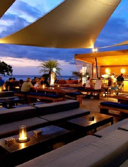 Watch the sunset as you enjoy scrumptious variety of dinner delights at The Deck Restaurant by @furama Xclusive Ocean Beach, Bali #beachfront #restaurant