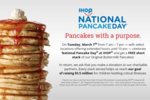 REMINDER: FREE Pancakes at IHOP Today on http://www.icravefreebies.com/