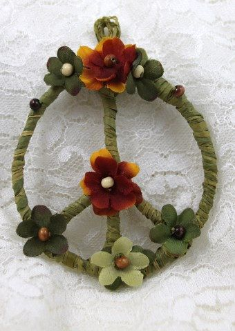 One of my favorites!   Peace Sign Peace Symbol Wreath Peace an original design by PeacePetalsAndPearls, $12.95