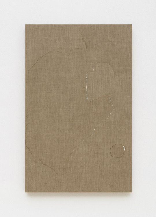 Helene Appel - Water Spill (2014) , watercolour on linen, 67 x 42.5 cm