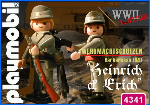 """Wehrmachtschuetzen """"Heinrich & Erich"""" // The image and figures do not necessarily reflect the opinion of Playmobil. #playmobilcustom"""