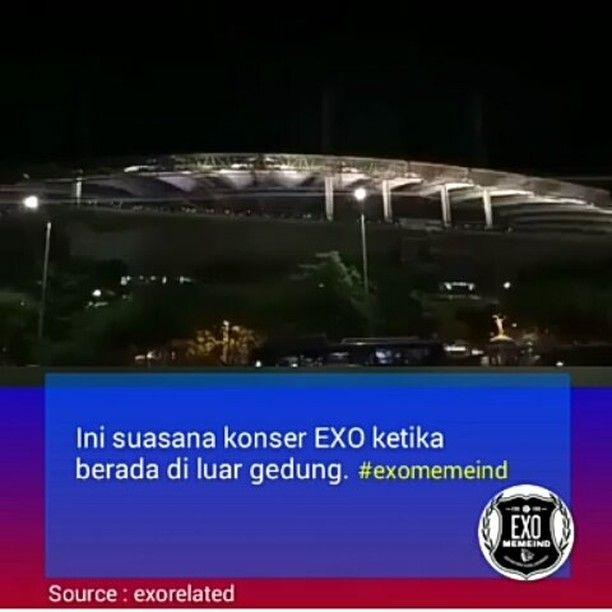 """6,778 Suka, 426 Komentar - 🔵 EXO MEME INDONESIA (@exomemeind) di Instagram: """"[NEWS] WOOOW! DAEBAK!😘😱😱 sampe gemuruh dan luar biasa kekompakan EXO-L saat Konser 'dream konser' .…"""""""