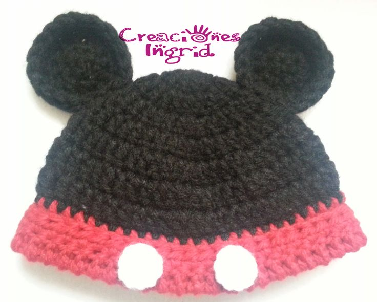 Gorro Mickey / Mickey Crochet Hat