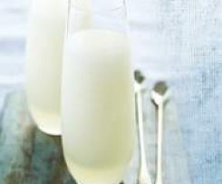 Vodka prosecco sorbet. I'm sure this could be varied into aperol spritzer sorbet!