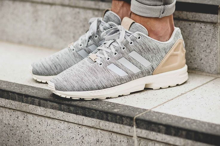 The Three Stripes has released a new grey knit pair of the ZX Flux.