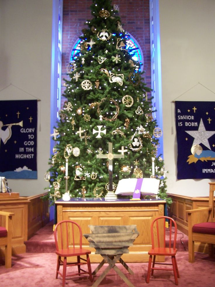 Church Sanctuary Christmas Decorating Ideas Church