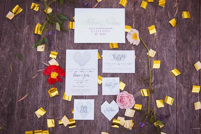 Geometric Bohemian Wedding Inspiration Styled Shoot // Invitations by The Articulate, Photographed by Erin McKenzie