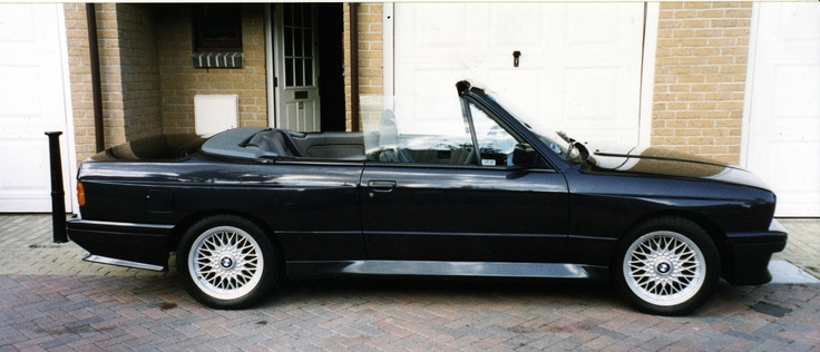 E30 BMW M3 Convertible in Diamant Black and 16inch Cross Spoke alloys