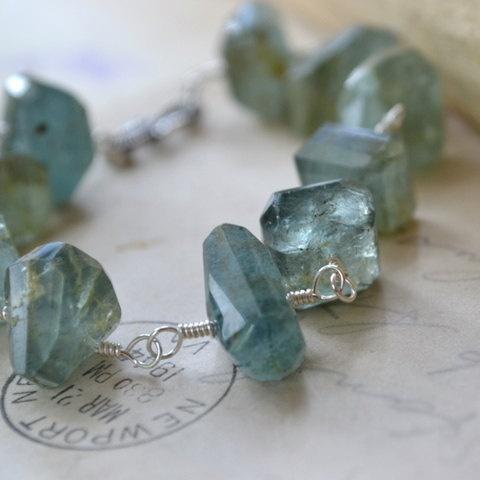 Moss Aquamarine Bracelet @moonovermaize $98 Sterling & Gemstones the Kind.  #looksgoodonya