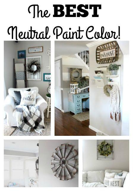 The Glam Farmhouse The Best Neutral Paint Color