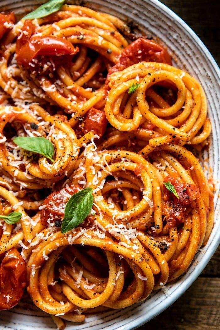 Bucatini Amatriciana Recipe Food Recipes Pasta Recipes