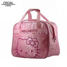 Розовый Hello Kitty мать сумка Детские диагер Сумки Многофункциональный Холст Bolsa Maternidade baby mama коляска Материнство сумка(China)