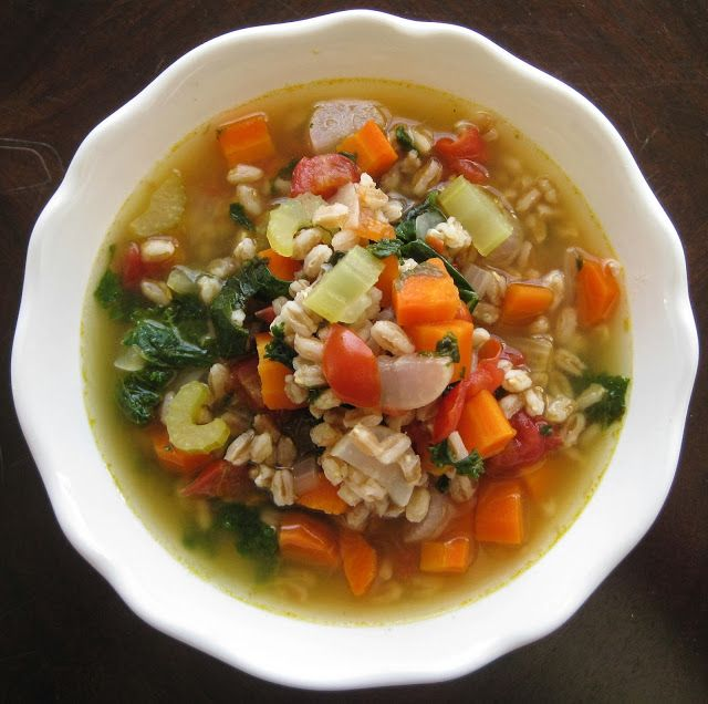 ... ' Kitchen | A Vegetarian Food Blog: Farro Soup with CSA Vegetables