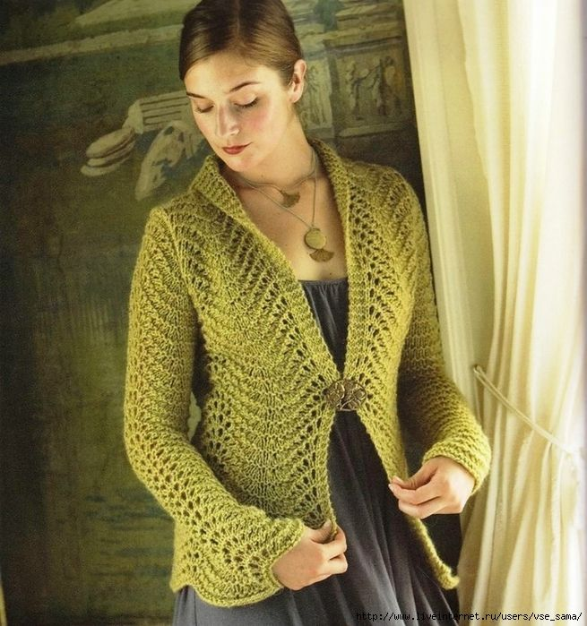 Chic olive jacket shawl collar. Discussion on LiveInternet - Russian Service Online Diaries
