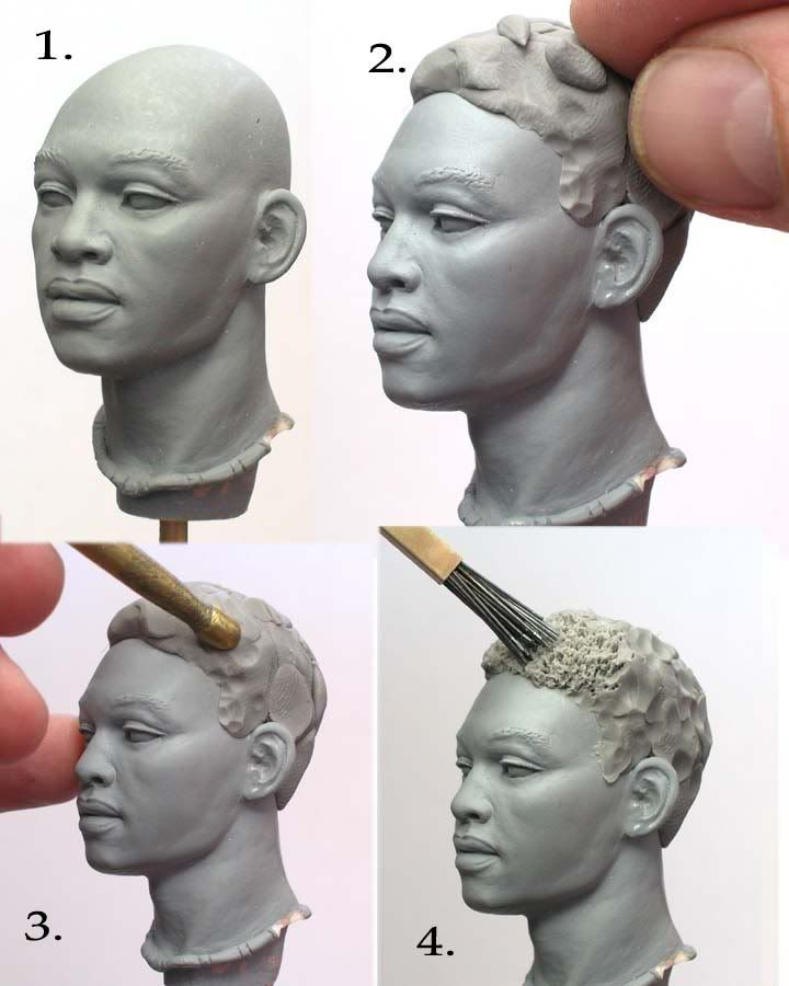 Tutoriales Sculpting - afro hair