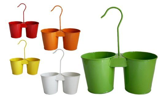 Hängetopf| Blumentopf | in 7 Farben erhältlich | Ø15,5cm | Pflanztopf | Blumenübertopf zum Hängen Balkon