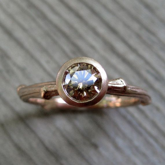 Hey, I found this really awesome Etsy listing at https://www.etsy.com/listing/156507664/chocolate-diamond-twig-ring-in-rose-gold