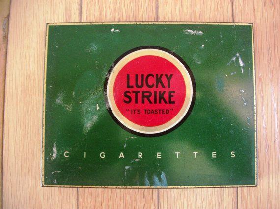 1930's1940's Lucky Strike Cigarettes Tin  It's by Shilopicks, $7.50