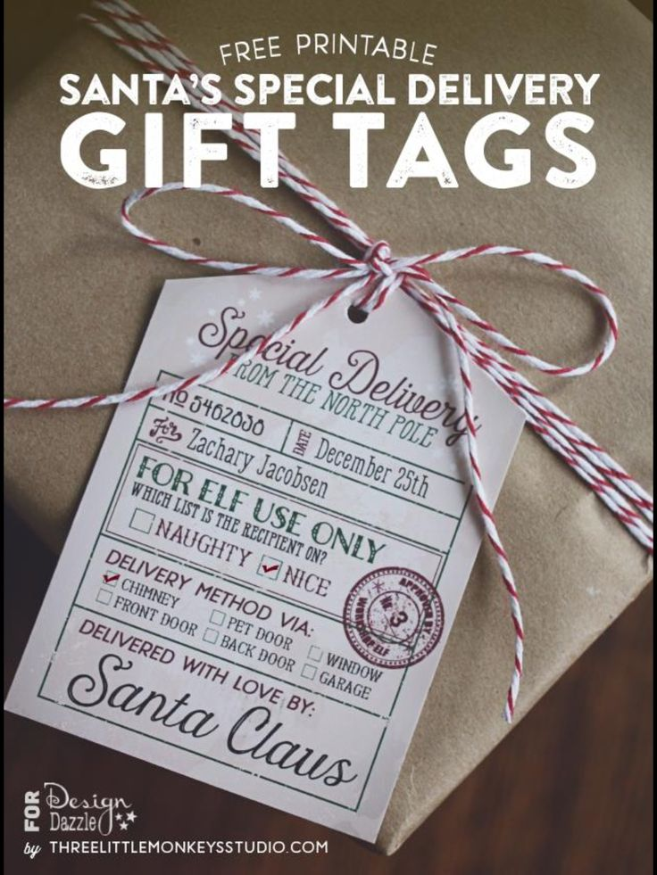 Santau0027s Special Delivery Printable Gift Tags