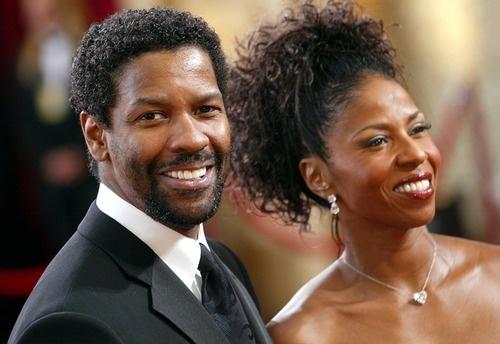 Denzel Washington & Wife Pauletta Pearson Washington    married since 1983