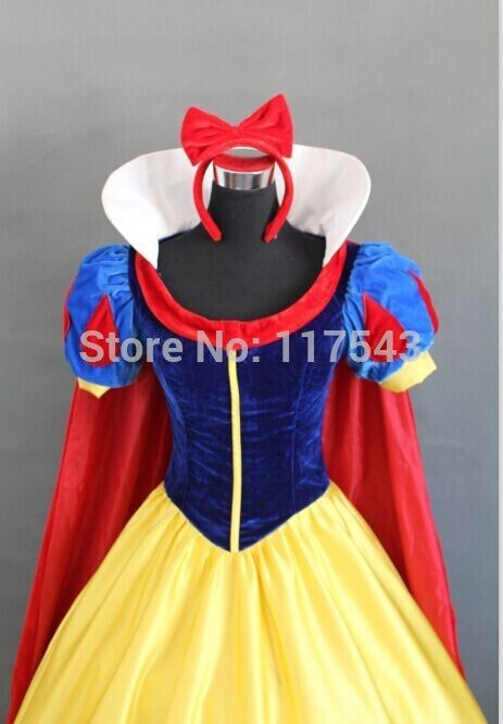 Princess Dress Snow White Princess Dress Cape Made Cosplay Costume Any Size Halloween Party Dress
